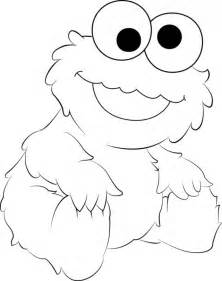 cookie monster coloring sheets funny cookie monster coloring pages x - Baby Cookie Monster Coloring Pages