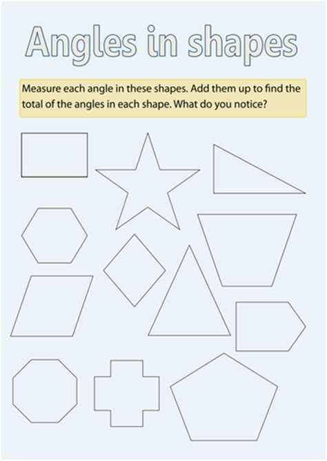 angles  shapes  richardtock teaching resources