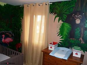 chambre jungle With déco chambre bébé pas cher avec fleurs pas cher livraison