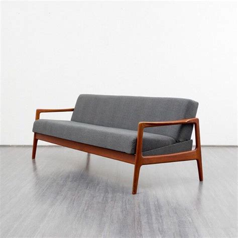 Scandinavian Grey Sofa Bed In Teak