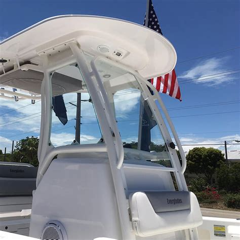 Everglades Boats Replacement Parts by Everglades 243 Acrylic Front Windshield Replacement New Style