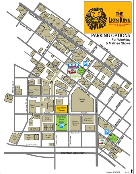 vcu parking deck locations traffic advisory parking recommendations broadway in