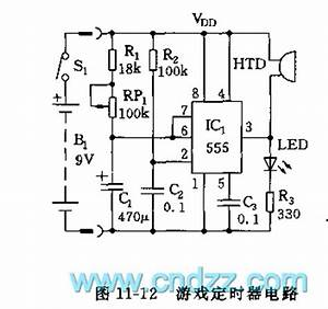 555 game timer circuit signal processing circuit With delay circuit with quotwatchdogquot composed of 555 555circuit circuit