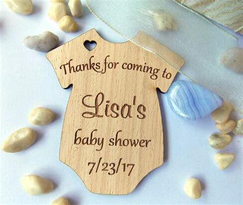 custom wooden baby shower gift favor tags baptism
