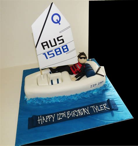 Sailing Boat Cake by Laser Sailing Boat Cake With Figure That S My Cake