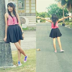Skater skirt outfit ideas | Skater Skirt Outfits With Converse Skater skirt converse | Outfits ...