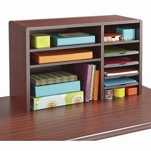 Safco, 3692mh, Wood, Desktop, Organizers, 29, Inw, Compact, Desk, Top, Organizer, -, Walmart, Com