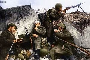 Russian Soldiers During World War 2  Color Photo 27