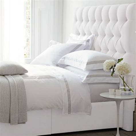 Bed Frame With Quilted Headboard by 25 Best White Headboard Ideas On