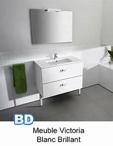 Meuble Salle De Bain Roca : attrayant meuble salle de bain 110 cm 1 meuble pack victoria basic sur roca ba241o ~ Dallasstarsshop.com Idées de Décoration