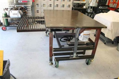 welding table  casters     material