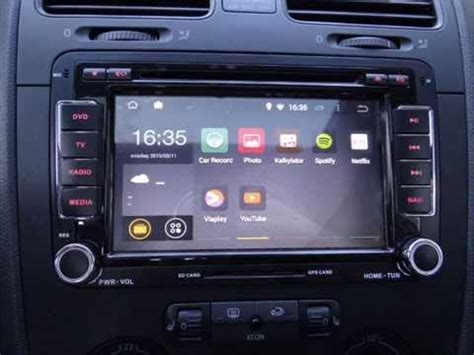 vw android 4 4 4 multimedia system dvd gps bt usb