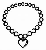 Coloring Jewelry Necklace Heart Valentine Sky Coloringsky Sheet Sketch sketch template