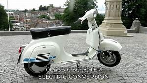 Classic Vespa Scooter Electric Conversion