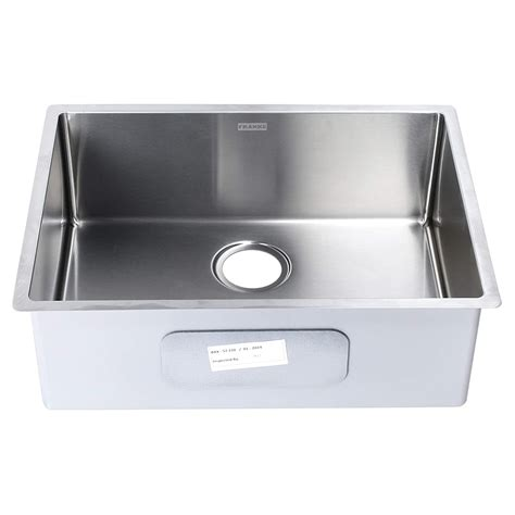 buy  franke stainless steel single bowl kitchen sink square shape    inches