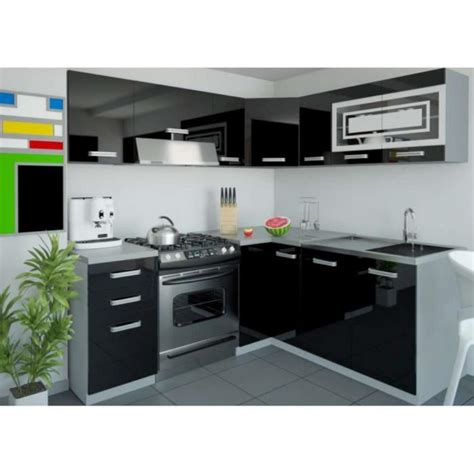 beautiful cuisine equipee noir laque contemporary design