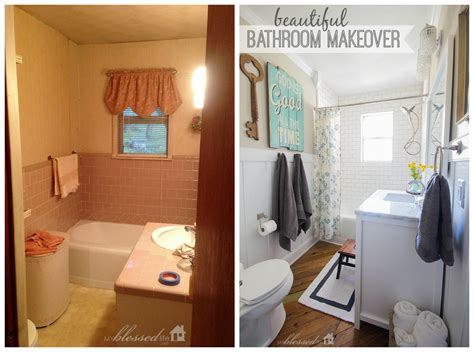 Bathroom Makeovers : Beautiful Cottage-style Bathroom Makeover