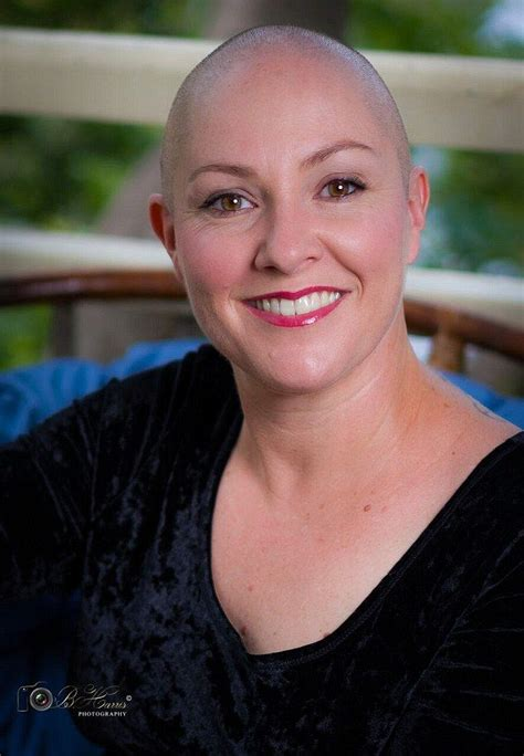 woman   alopecia shaves  head  empowering