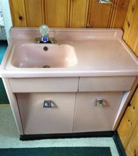 Rare 1950s Shirley Steel Bathroom Vanity  And With A