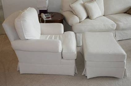 Overstuffed Chairs With Ottoman by 125 White Overstuffed Chair Ottoman For Sale In Boca
