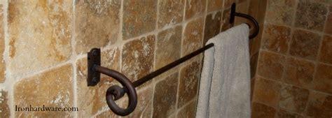 Wrought Iron Towel Bars and Bathroom Hardware   Paso