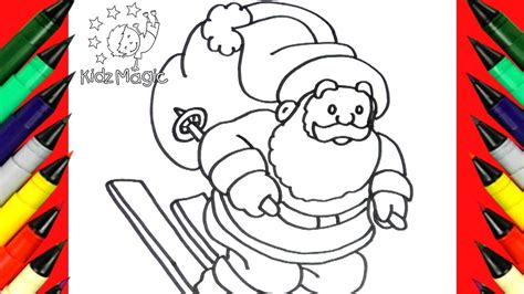 draw and color how to draw and color santa claus for coloring