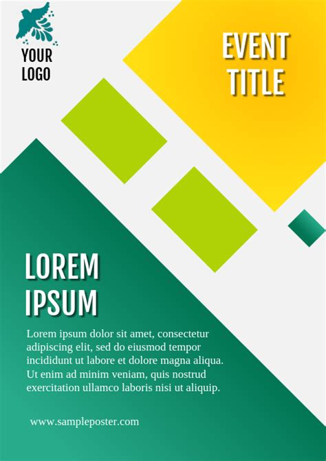 simple event poster template postermywall