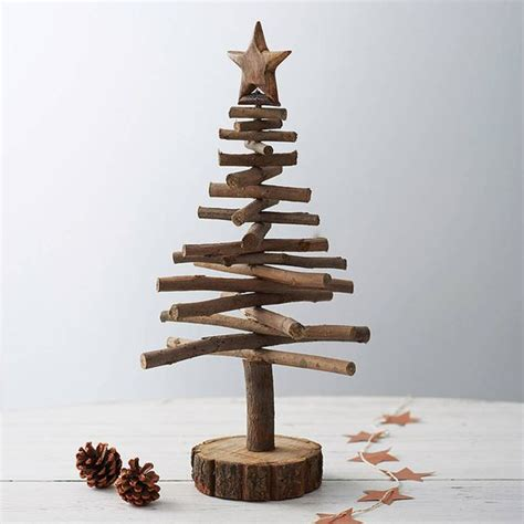 twig christmas trees are a rustic alternative craft