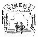 Coloring Cinema Cine Colorear Dibujo Kino Dibujos Colorare Bauwerke Supercoloring Ausmalbild Ausmalbilder Disegno Kategorien Designlooter Guardado Desde Timeline Uploaded Gratis sketch template