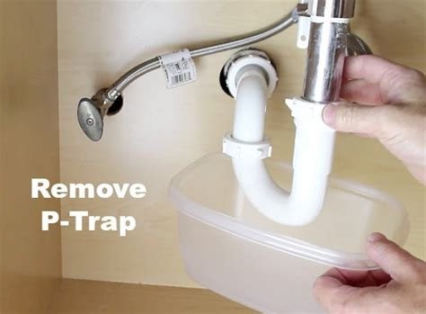 replacing p trap kitchen sink how to replace a bathroom faucet plus 3 brilliant tool 9240