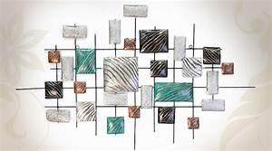 Décoration Murale En Métal : grande d coration murale art moderne en m tal ~ Teatrodelosmanantiales.com Idées de Décoration
