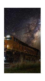train, Night, Lights, Milky Way, Landscape, Nature, Galaxy ...