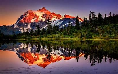 Mountain Reflection Mountains Desktop Lake Wallpapers Nature