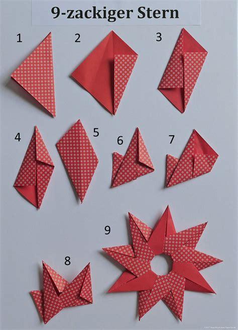 sterne falten aus papier origami sterne falten anleitung