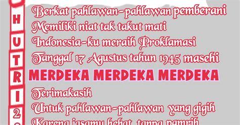puisi cinta  anisayu puisi pantun kemerdekaan hut ri   dirgahayu indonesia