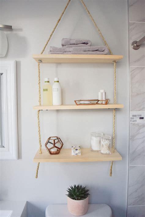 Diy Hanging Shelves  One Brass Fox