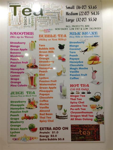 boba tea flavors lily bubble tea and smoothie 27 photos juice bars smoothies pentagon city arlington