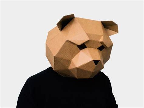 teddy bear mask diy printable animal head  awesomepatterns