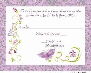 Party Invitation Language Purple Spanish Butterfly Response Card Rsvp Wedding