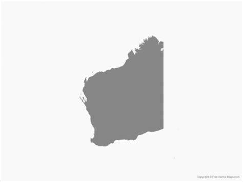 Map Of Western Australia Single Color Vector