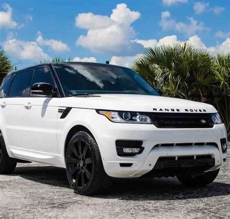 range rover white range rover with black rims land rover pinterest