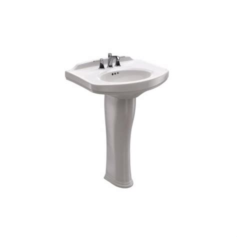 single pedestal sink toto dartmouth 24 in pedestal combo bathroom sink with