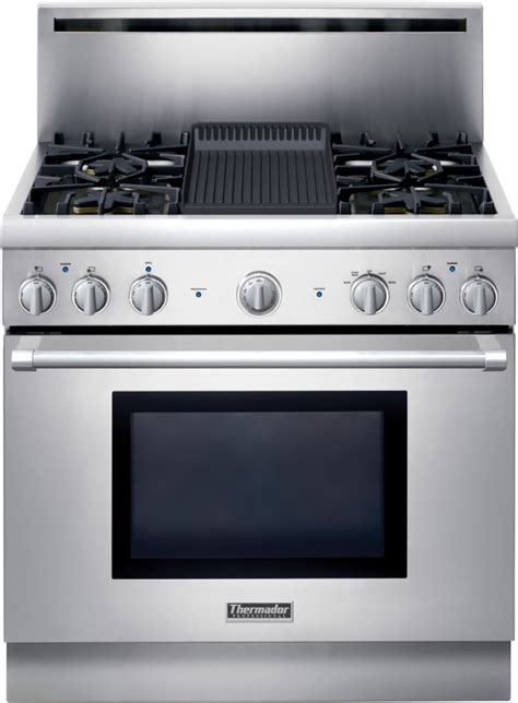 thermador prgelh   pro style  gas range   star burners   extralow simmer