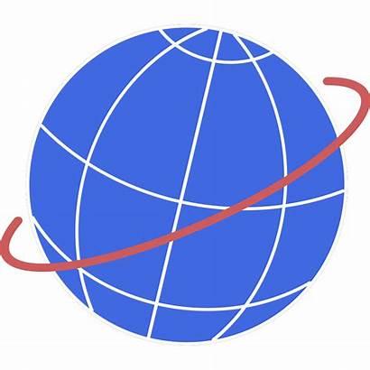 Globe Vector Svg Path Flight Illustration Clip