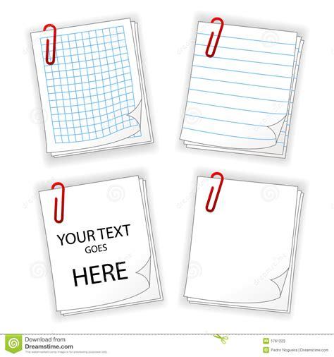 bordes para hojas de papel imagui hojas papel con el clip rojo ilustraci 243 n vector