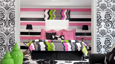 black pink and white bedroom 20 gorgeous pink and black accented bedrooms home design 18350 | pink black bedroom