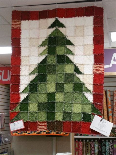 rag quilt christmas trees and trees on pinterest