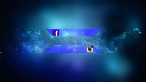 Free Channel Banner No Text (blue Space)