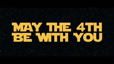 May the 4th be with you... When you come home late ...