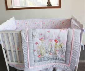 Pink Crib Bedding by Flowers Amp Birds Baby Crib Cot Bedding Quilt Bumper Sheet